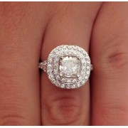 Cushion Cut Diamond Solitaire Engagement Ring - 2.52 Ct | Color D | Clarity VS1 | 14K White Gold